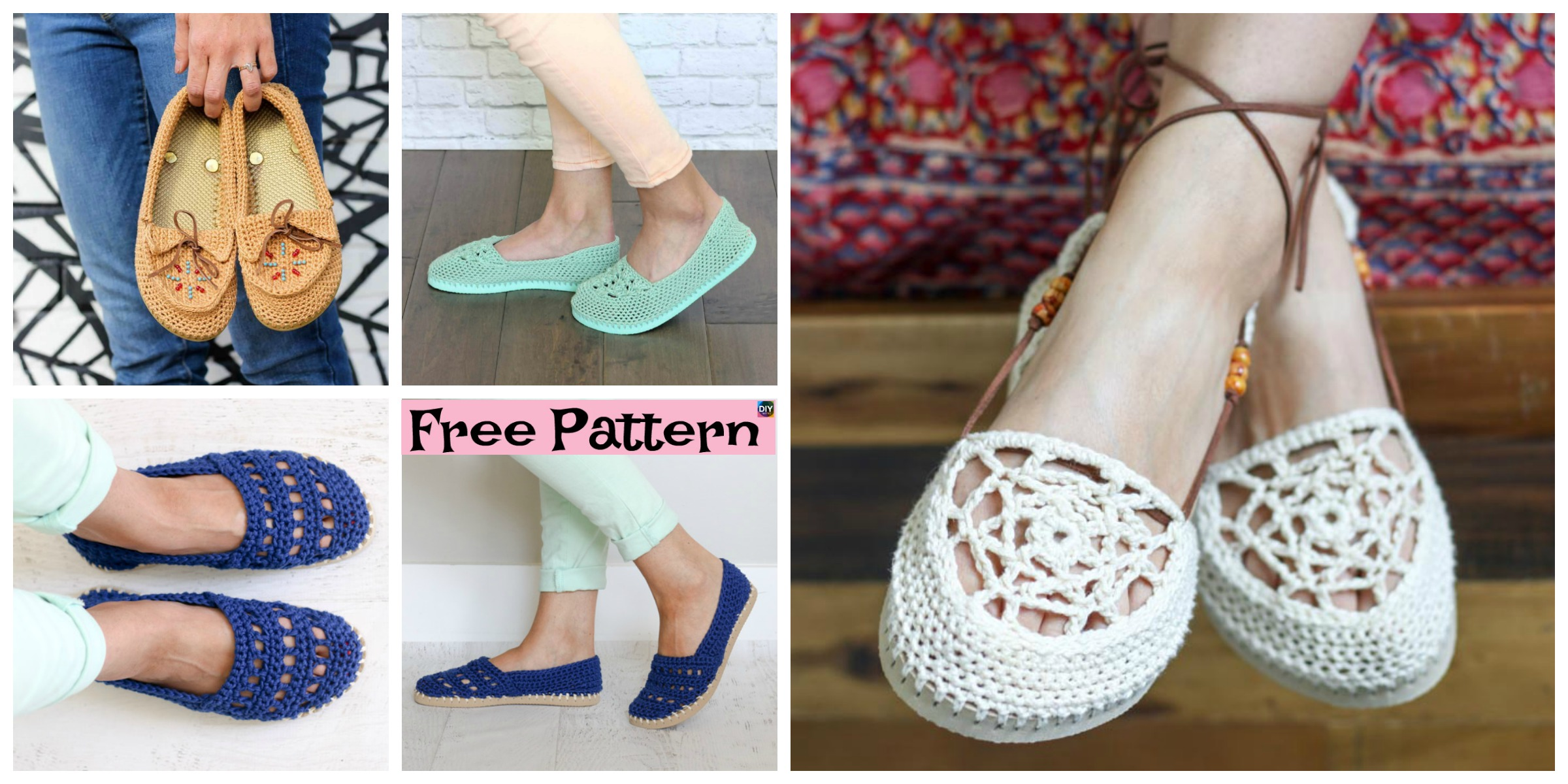 Crochet Slippers Using Flip Flop Soles – Free Patterns