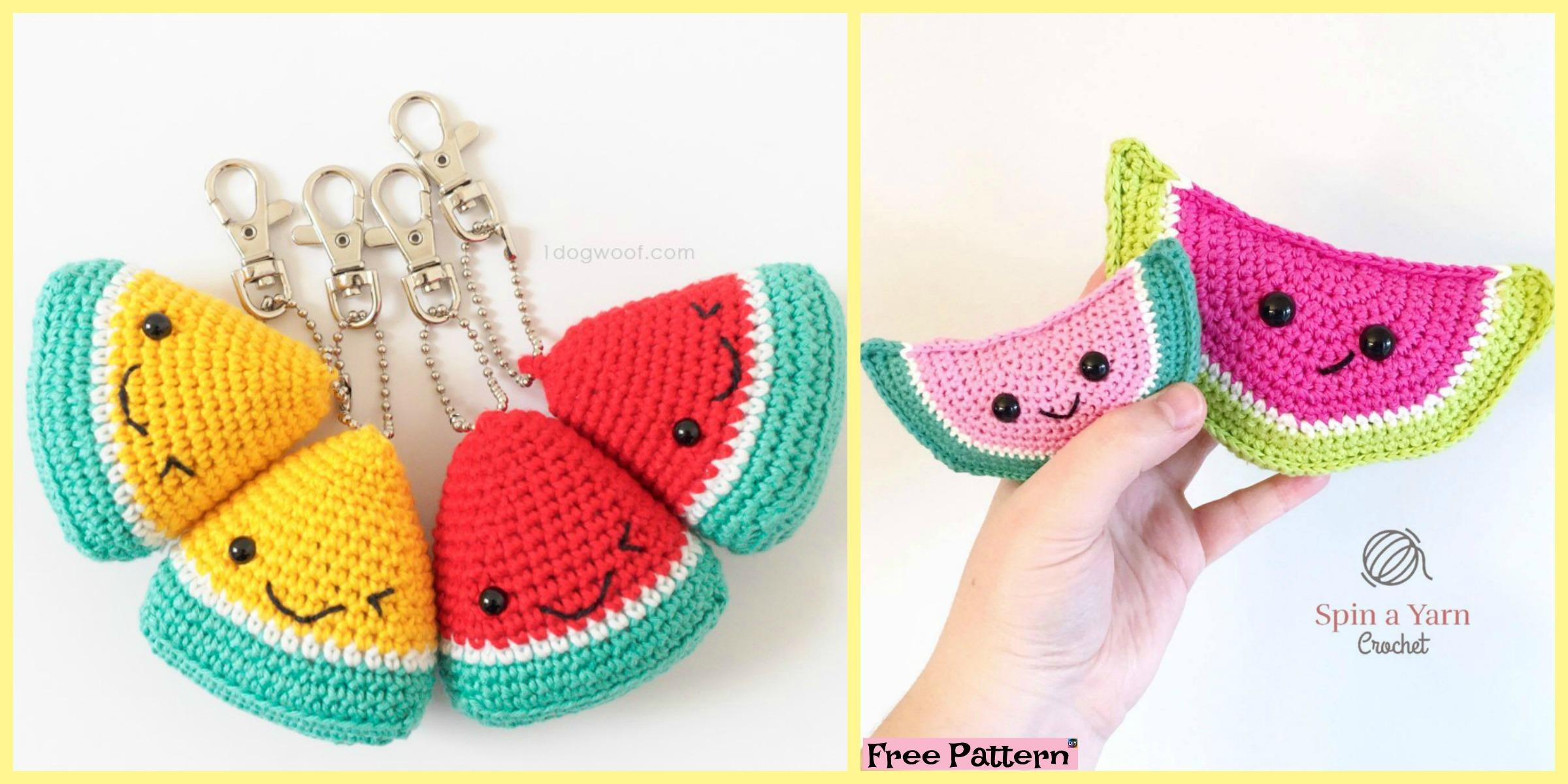 Crochet Watermelon Amigurumi – Free Patterns