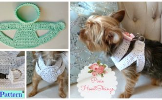 diy4ever- Crocheted Dog Harness - Free Pattern