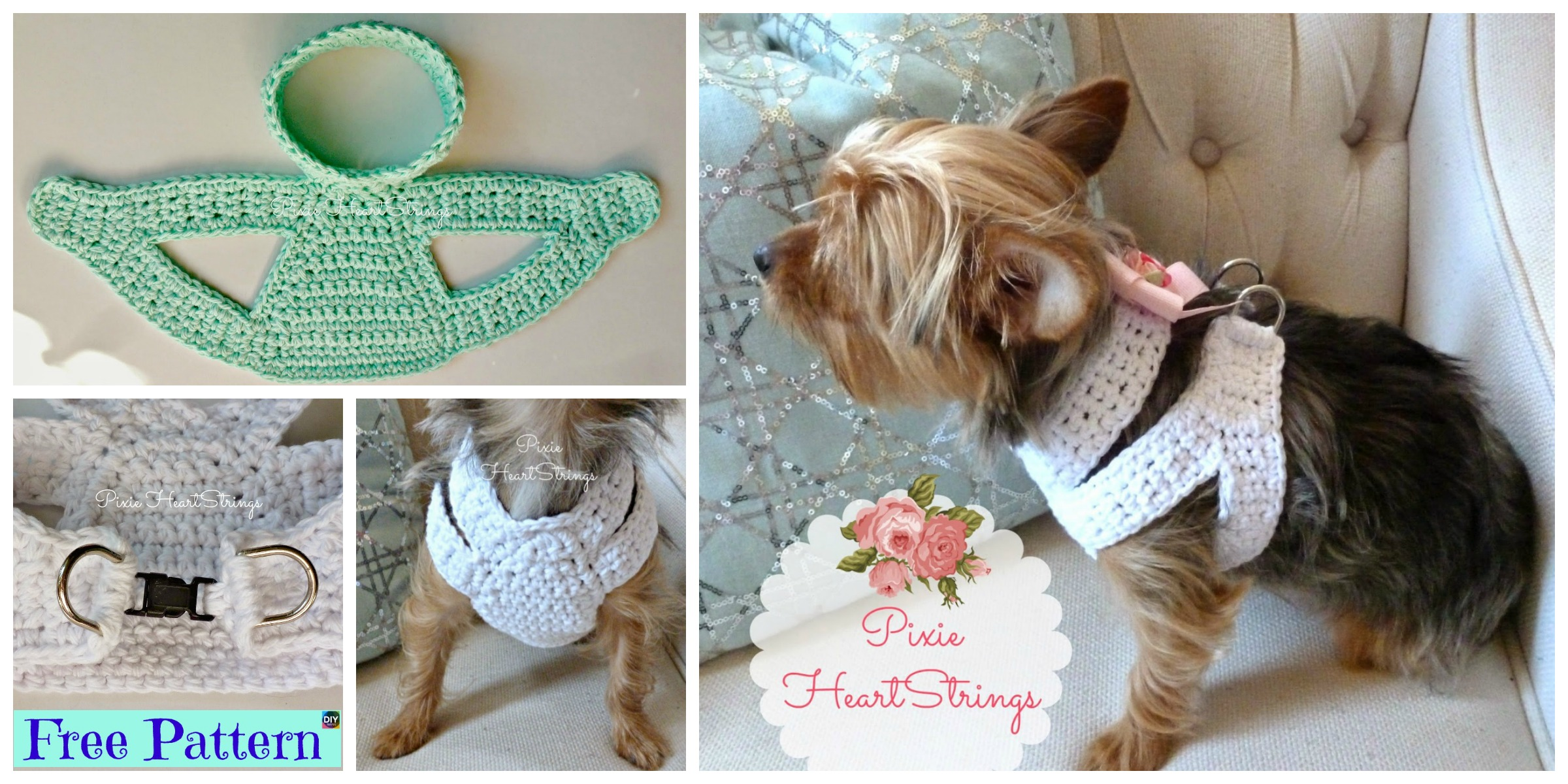 Crocheted Dog Harness – Free Pattern