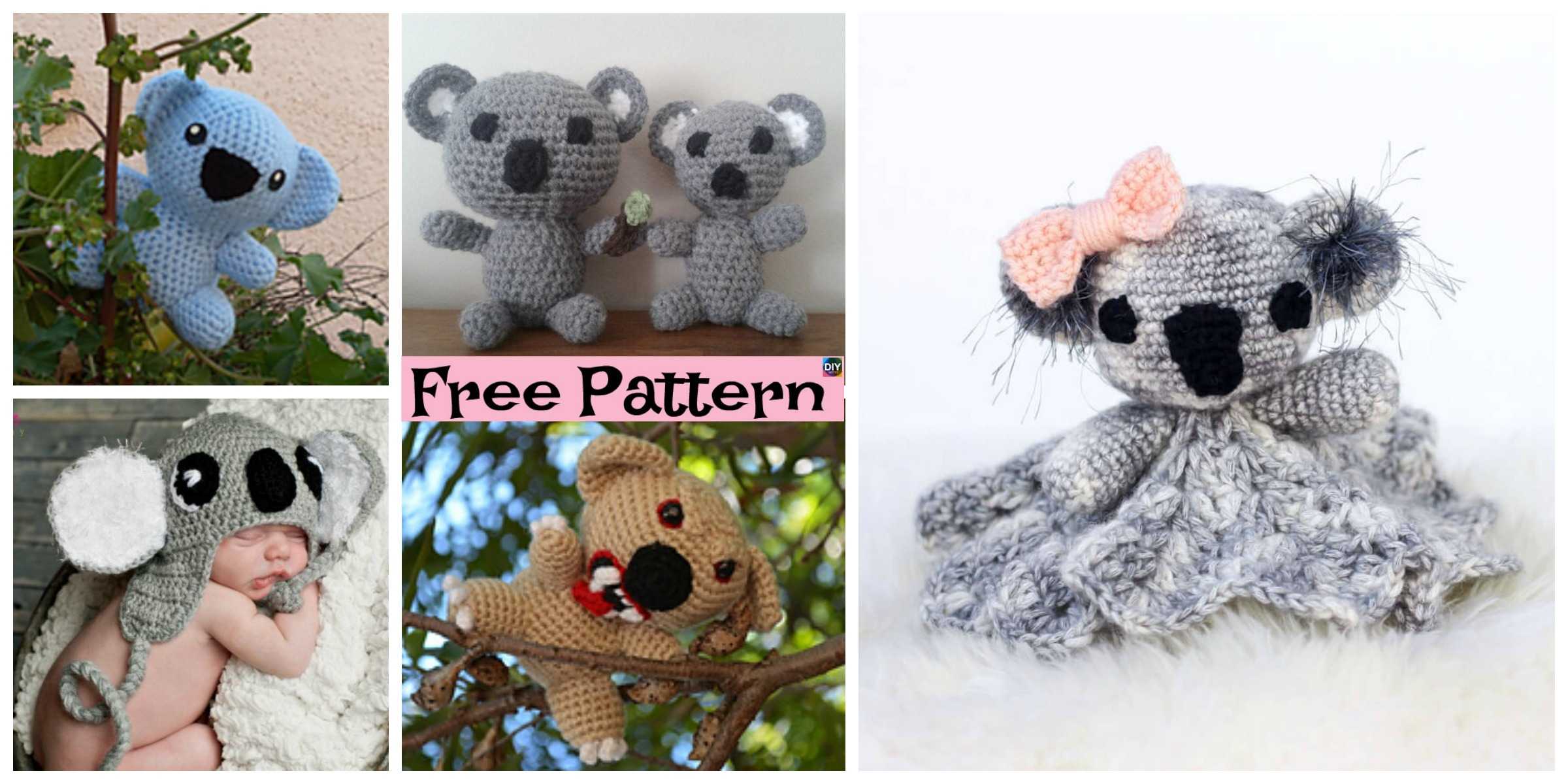 Cuddly Crochet Koala Lovey – Free Patterns