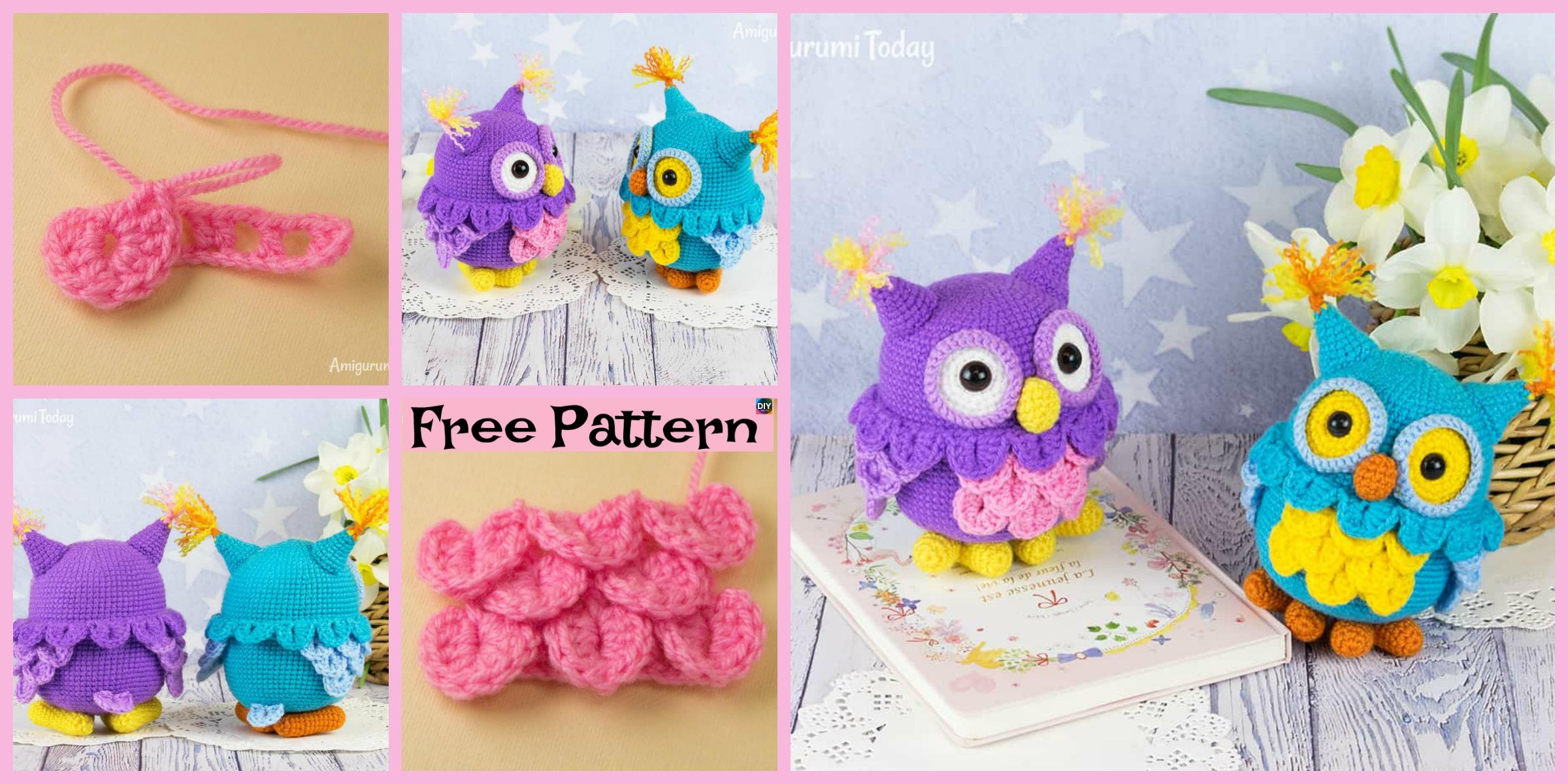 Amigurumi Purple Owl Pattern Crochet Baby Owl PDF Handmade | Etsy | 1200x2400