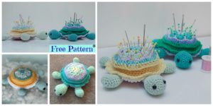diy4ever- Cute Crochet Turtle Pincushion - Free Pattern