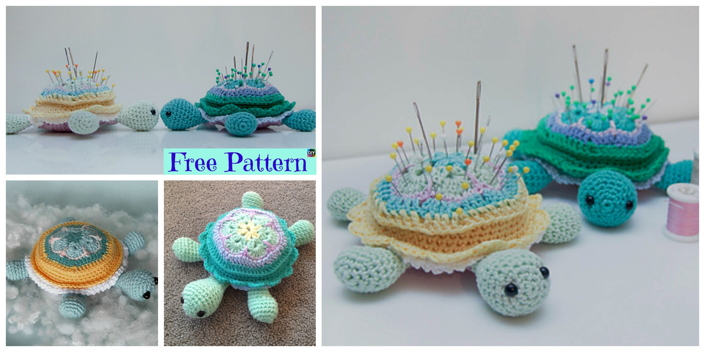 Cute Crochet Turtle Pincushion – Free Pattern