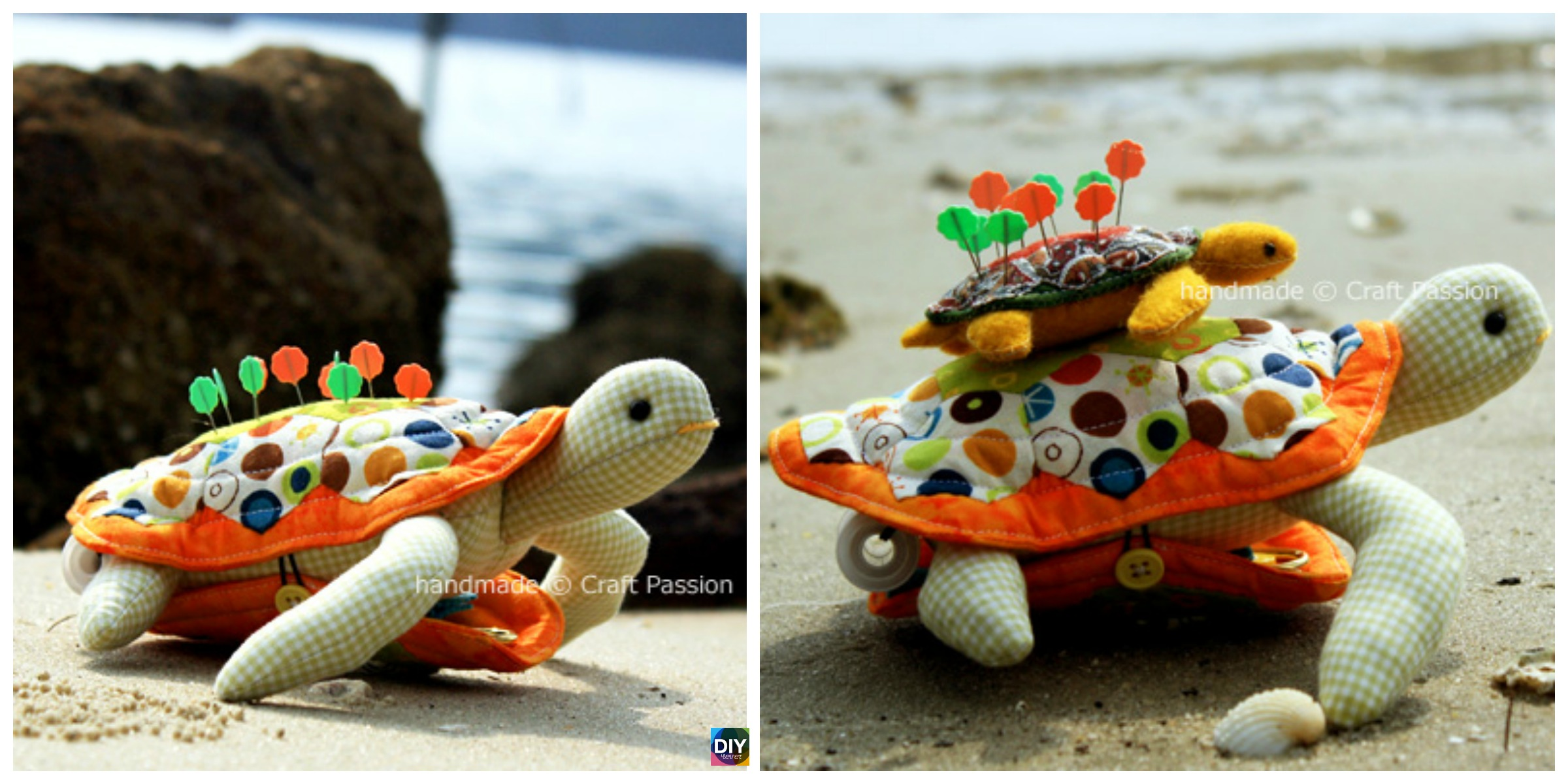 Cute DIY Turtle Pincushion – Free Sewing Pattern