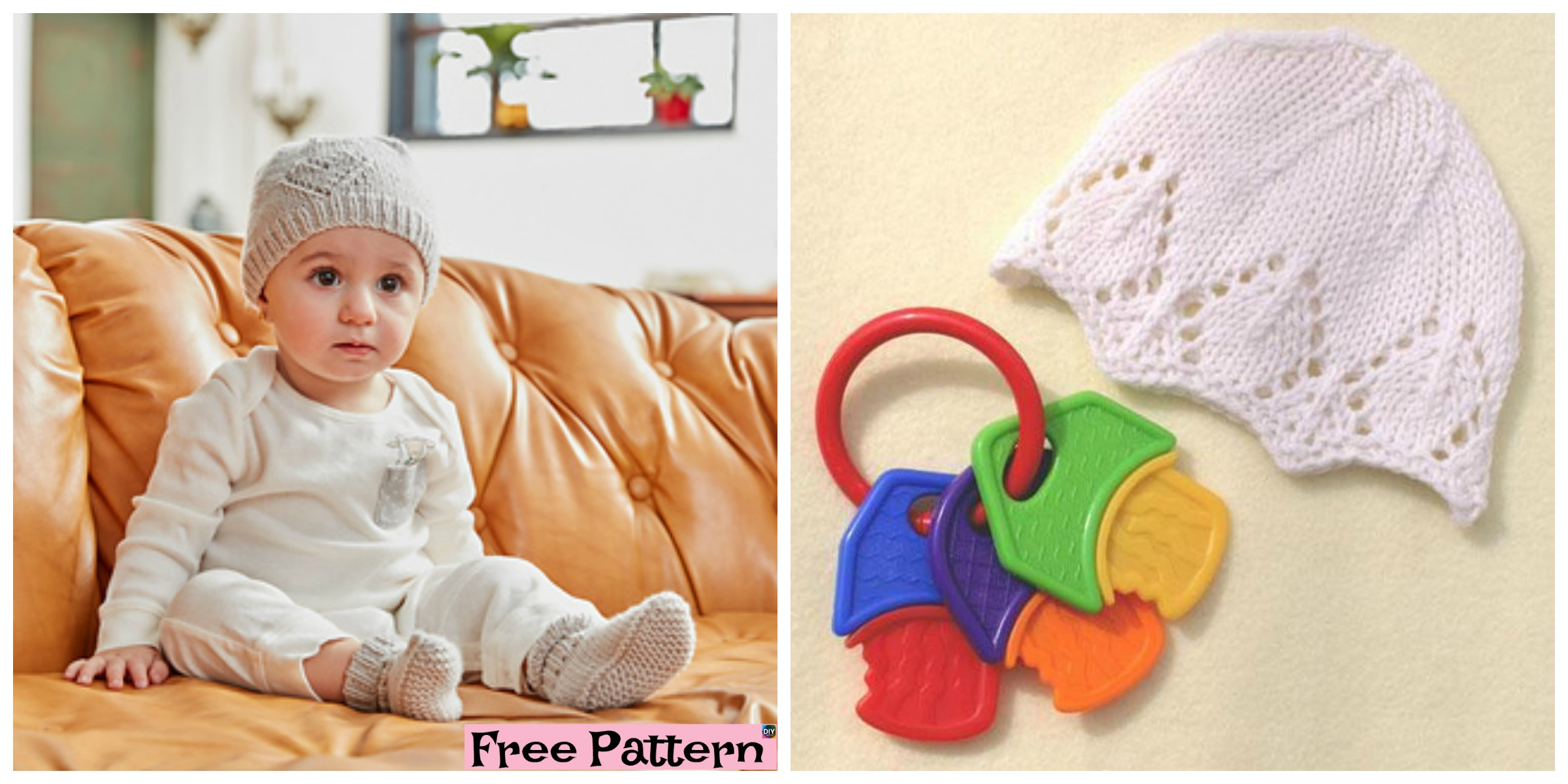 Cute Knitted Baby Hat – Free Patterns