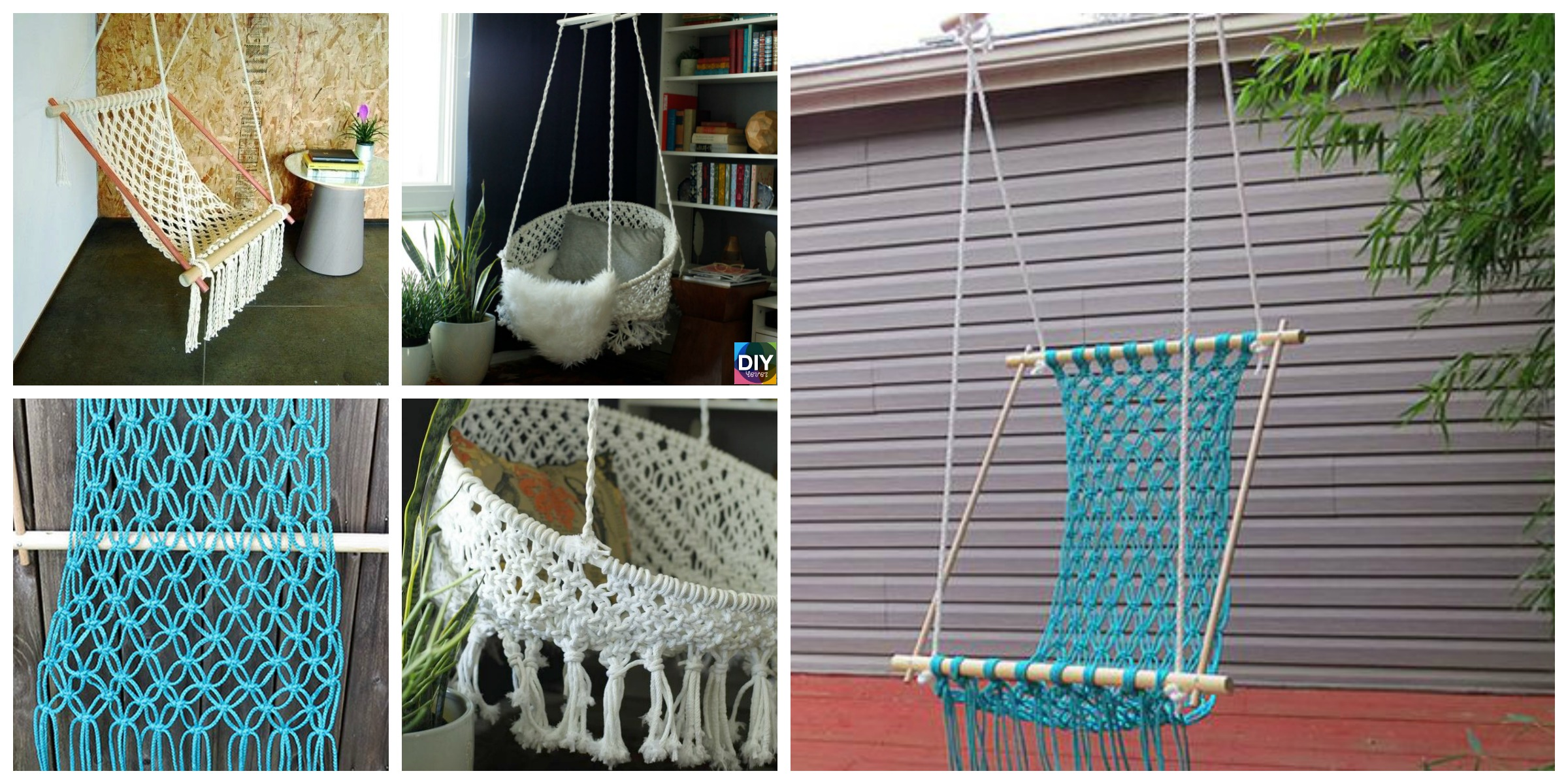 DIY Hanging Macrame Chair Tutorials