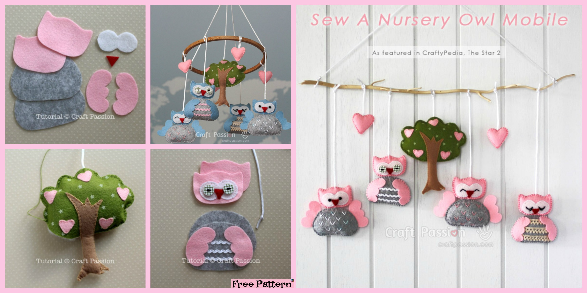 DIY Nursery Owl Mobile – Free Sewing Pattern