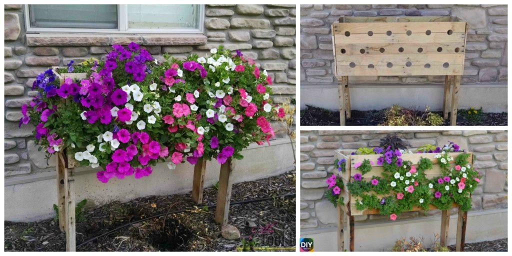 Diy Pallet Planter Box For Cascading Flowers Diy 4 Ever