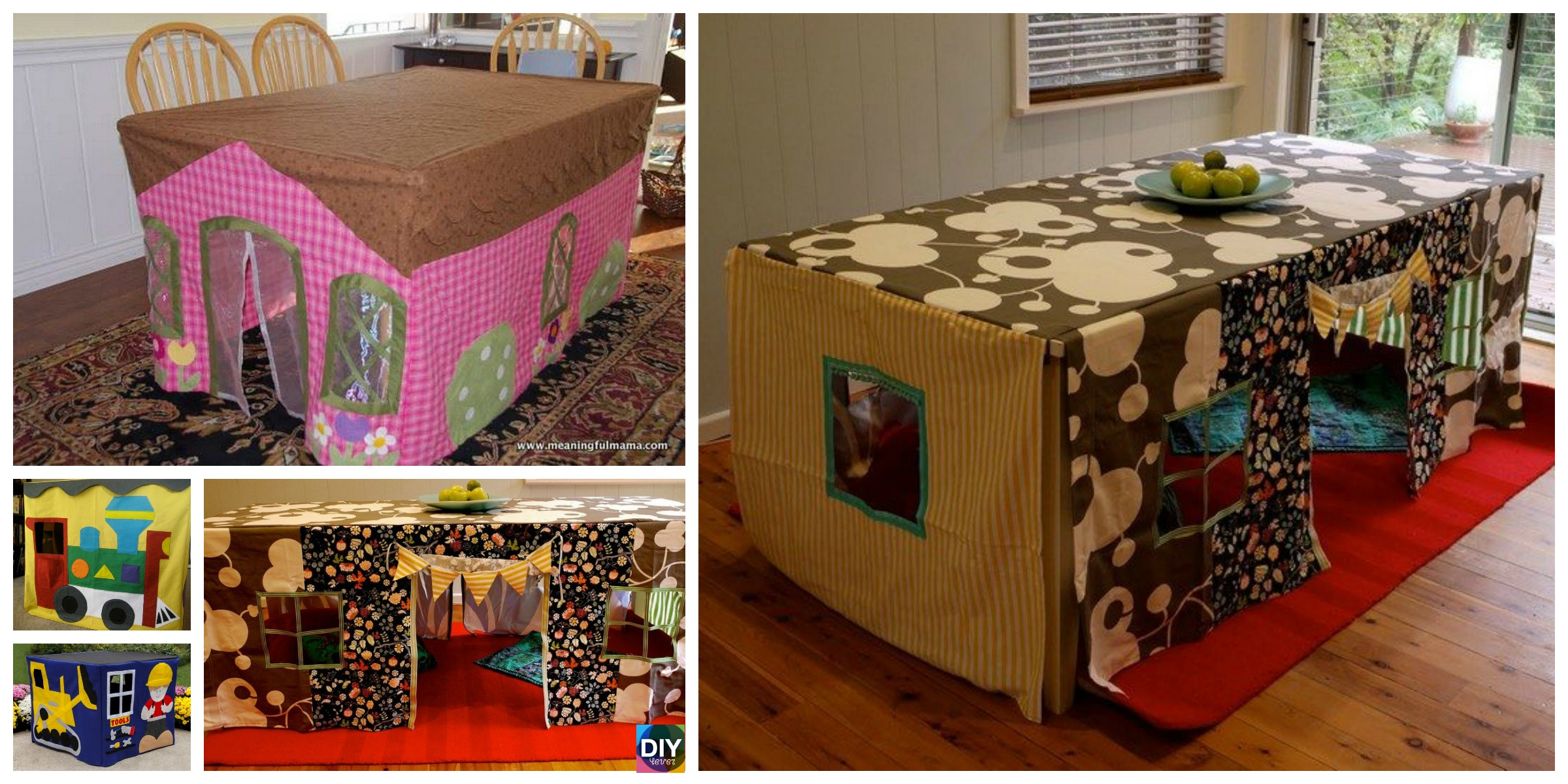 How to DIY Tablecloth Forts with Your Kids
