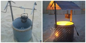 diy4ever-DIY Wishing Well Burn Barrel from Old Drum