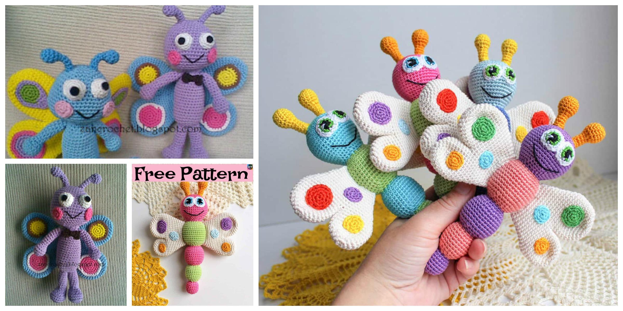 Easy Crochet Amigurumi Butterfly – Free Patterns