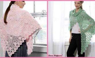 diy4ever- Elegant Crochet Summer Shawl - Free Pattern