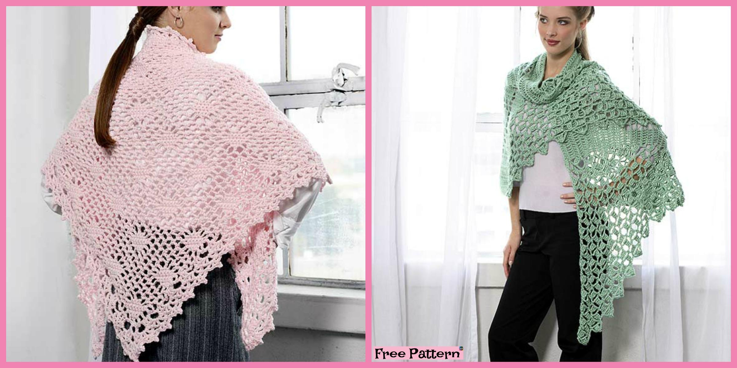 Elegant Crochet Summer Shawl – Free Patterns