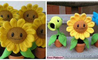 diy4ever-Happy Crochet Amigurumi Sunflower - Free Pattern