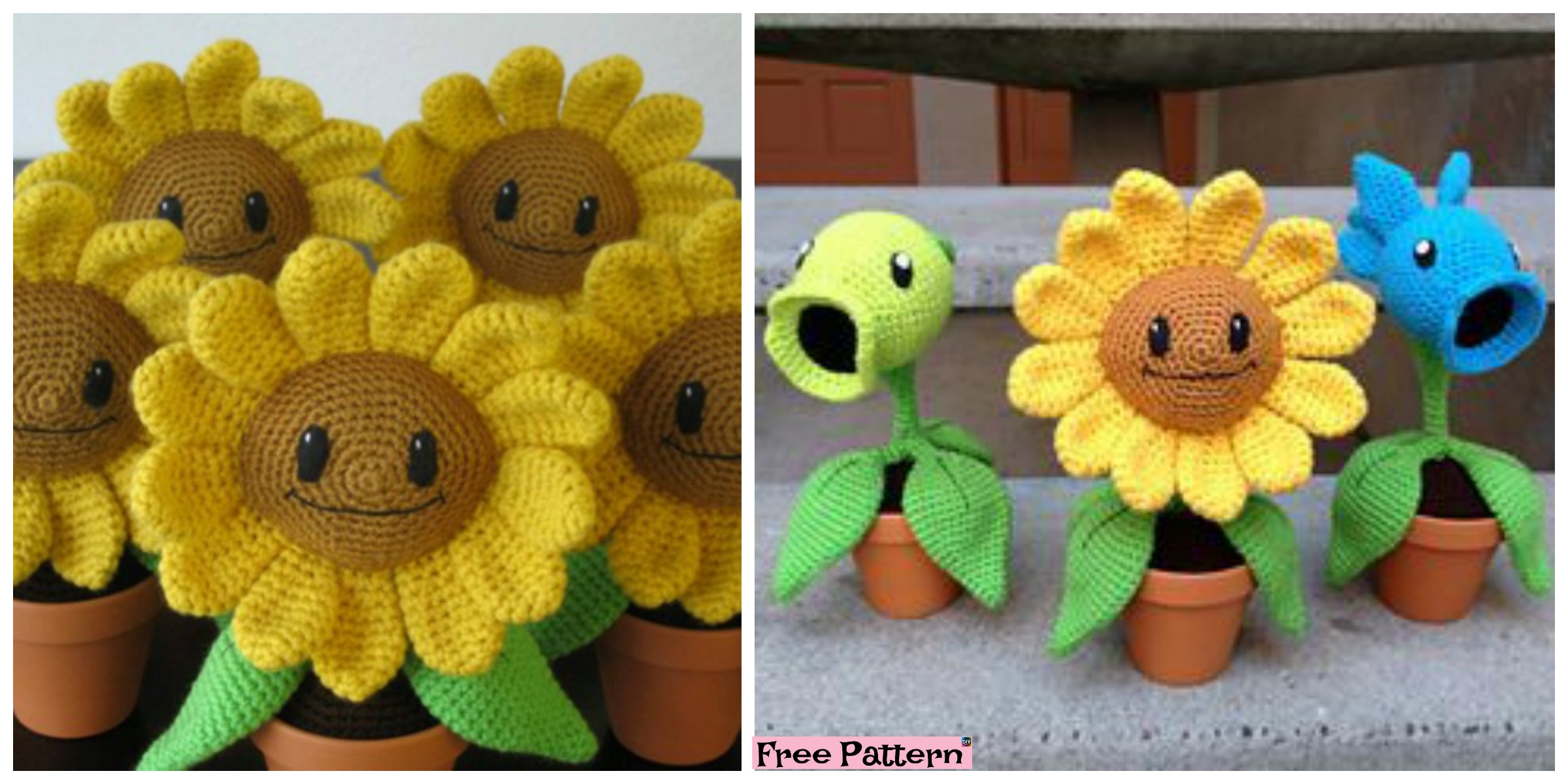 Happy Crochet Amigurumi Sunflower – Free Pattern