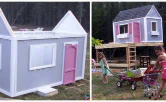 diy4ever- How to DIY Playhouse for Kids - Free Plan
