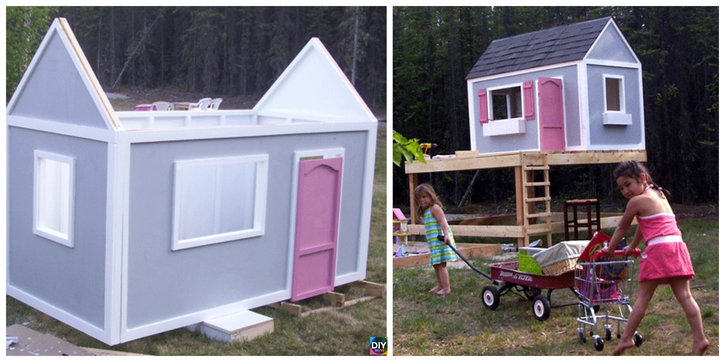 How to DIY Playhouse for Kids – Free Plan