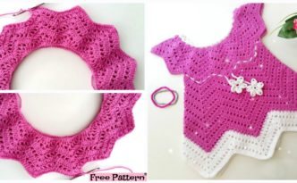 Pretty Crochet Baby Blossom Dress - Free Pattern