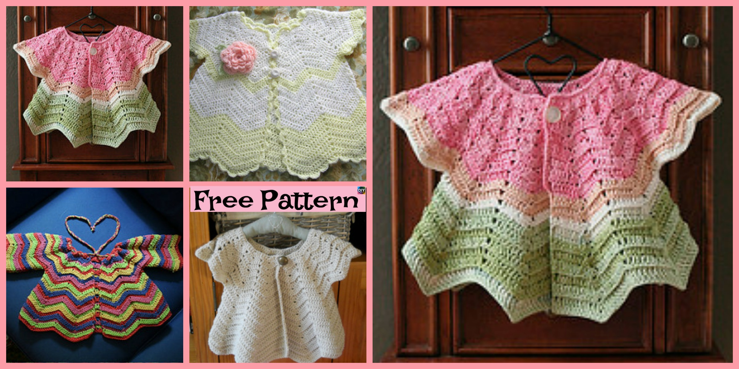 Pretty Crochet Baby Sweater – Free Pattern