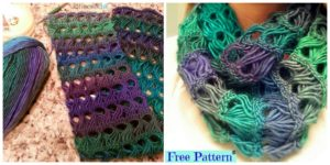 diy4ever- Pretty Crochet Broomstick Lace Scarf - Free Pattern