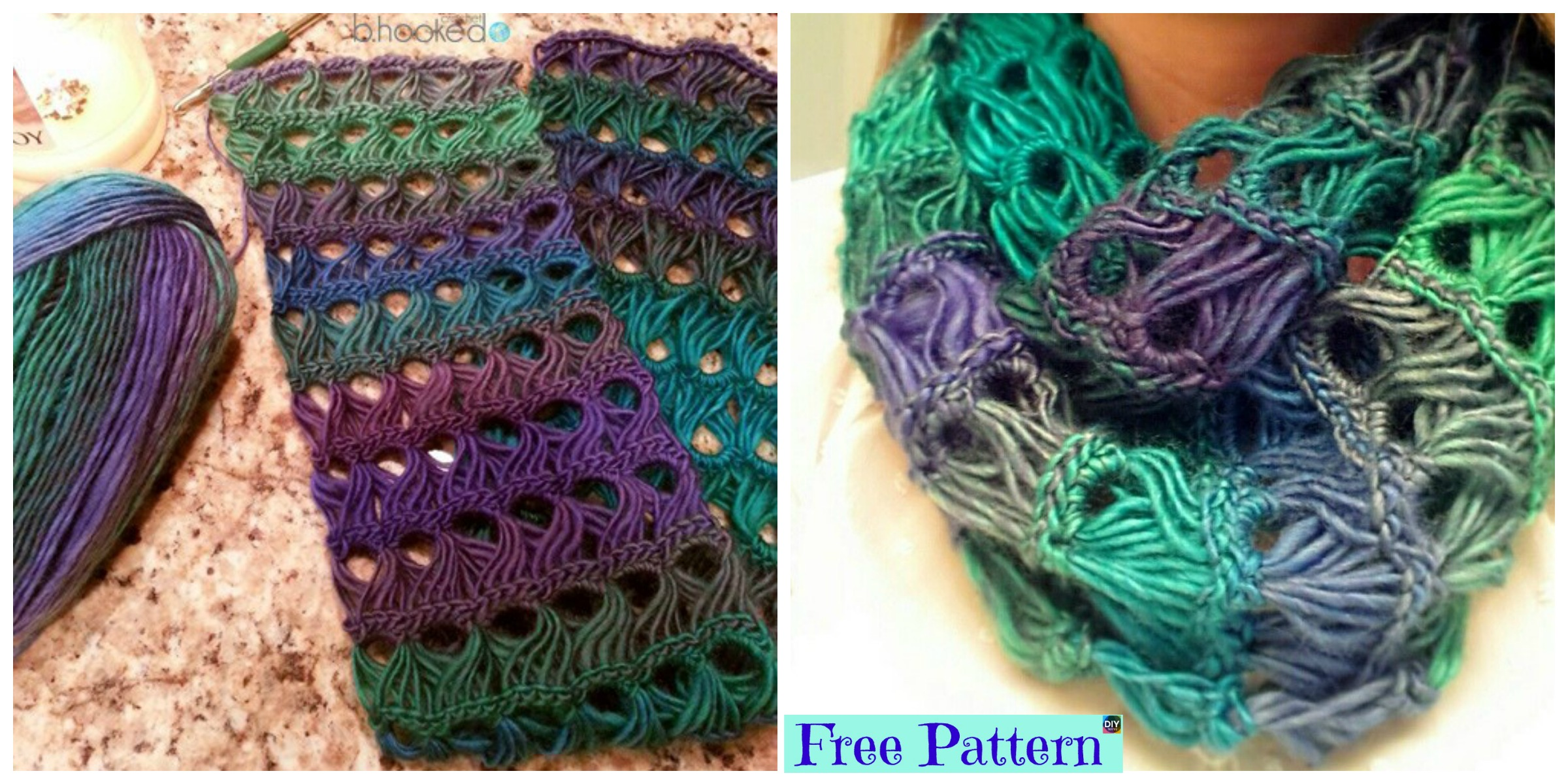 Pretty Crochet Broomstick Lace Scarf – Free Pattern