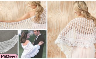 diy4ever-Pretty Crochet Gardenia Shawl - Free Pattern