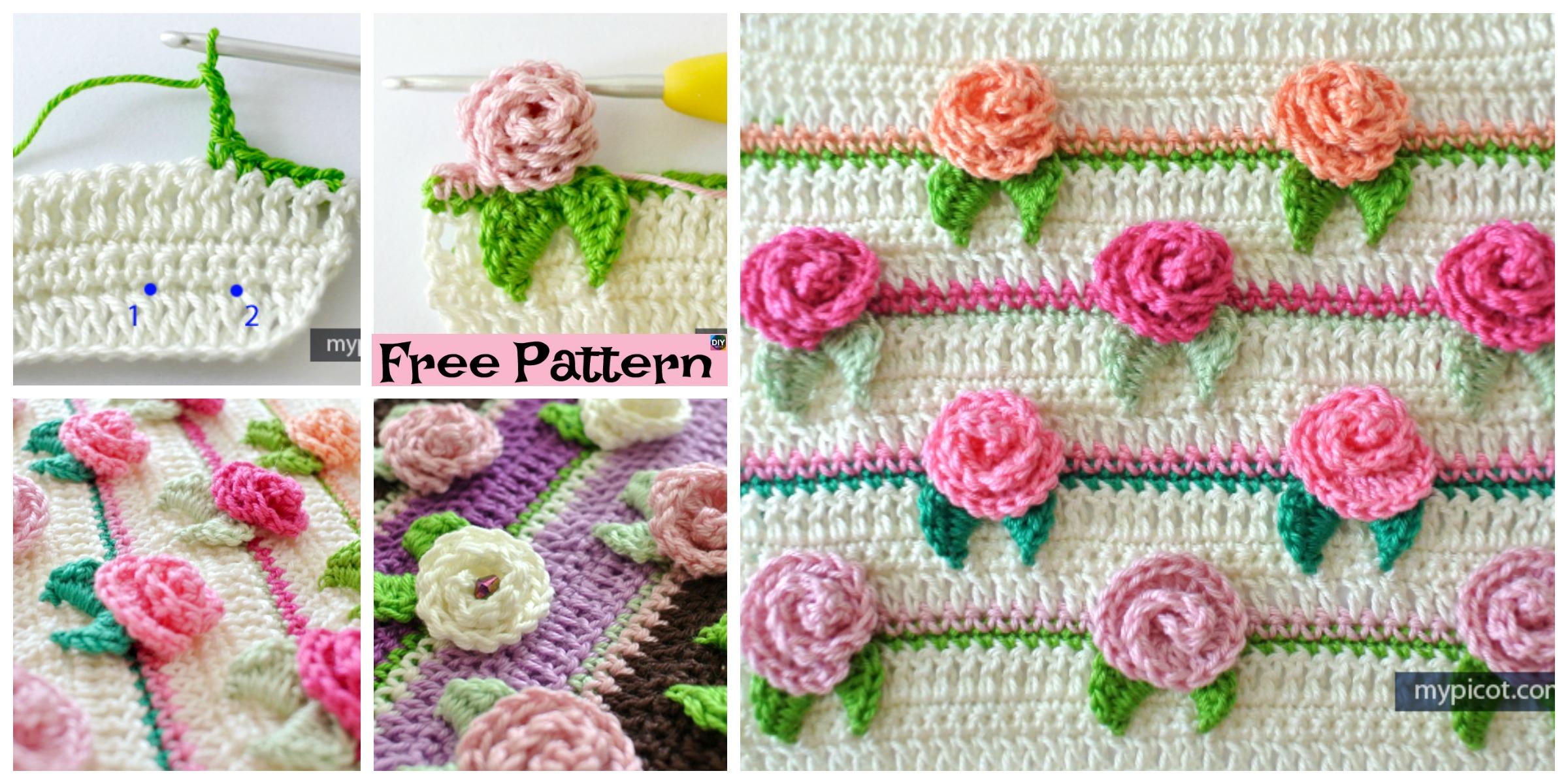 Pretty Crochet Rosebud Stitch – Free Pattern