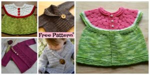 diy4ever- Pretty Knit Baby Cardigan - Free Pattern
