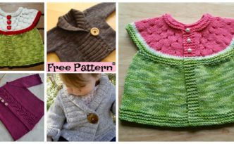diy4ever- Pretty Knit Baby Cardigan - Free Pattern