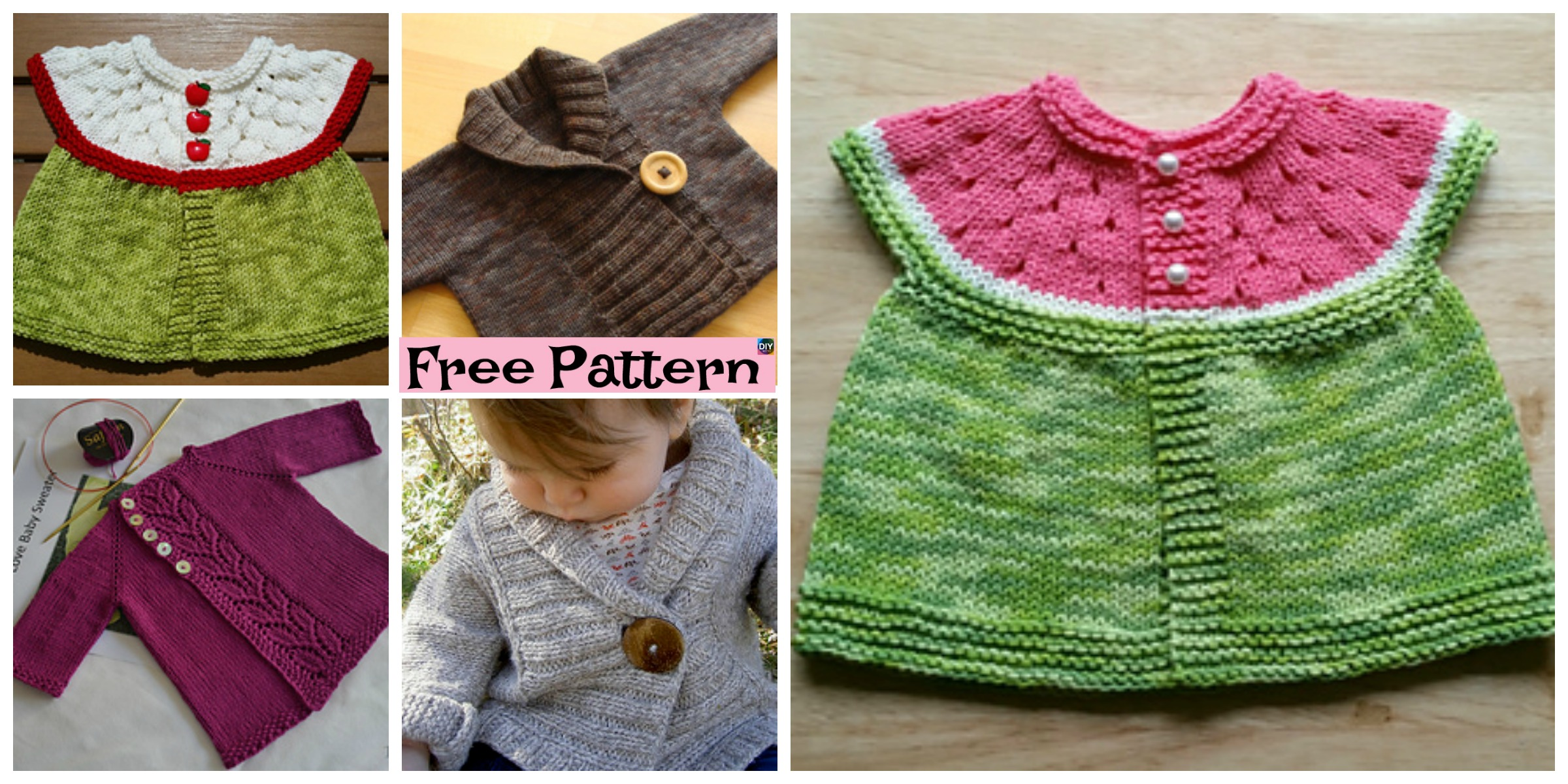 Pretty Knit Baby Cardigan – Free Patterns