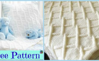 diy4ever- Pretty Knit Fence Baby Blanket - Free Pattern