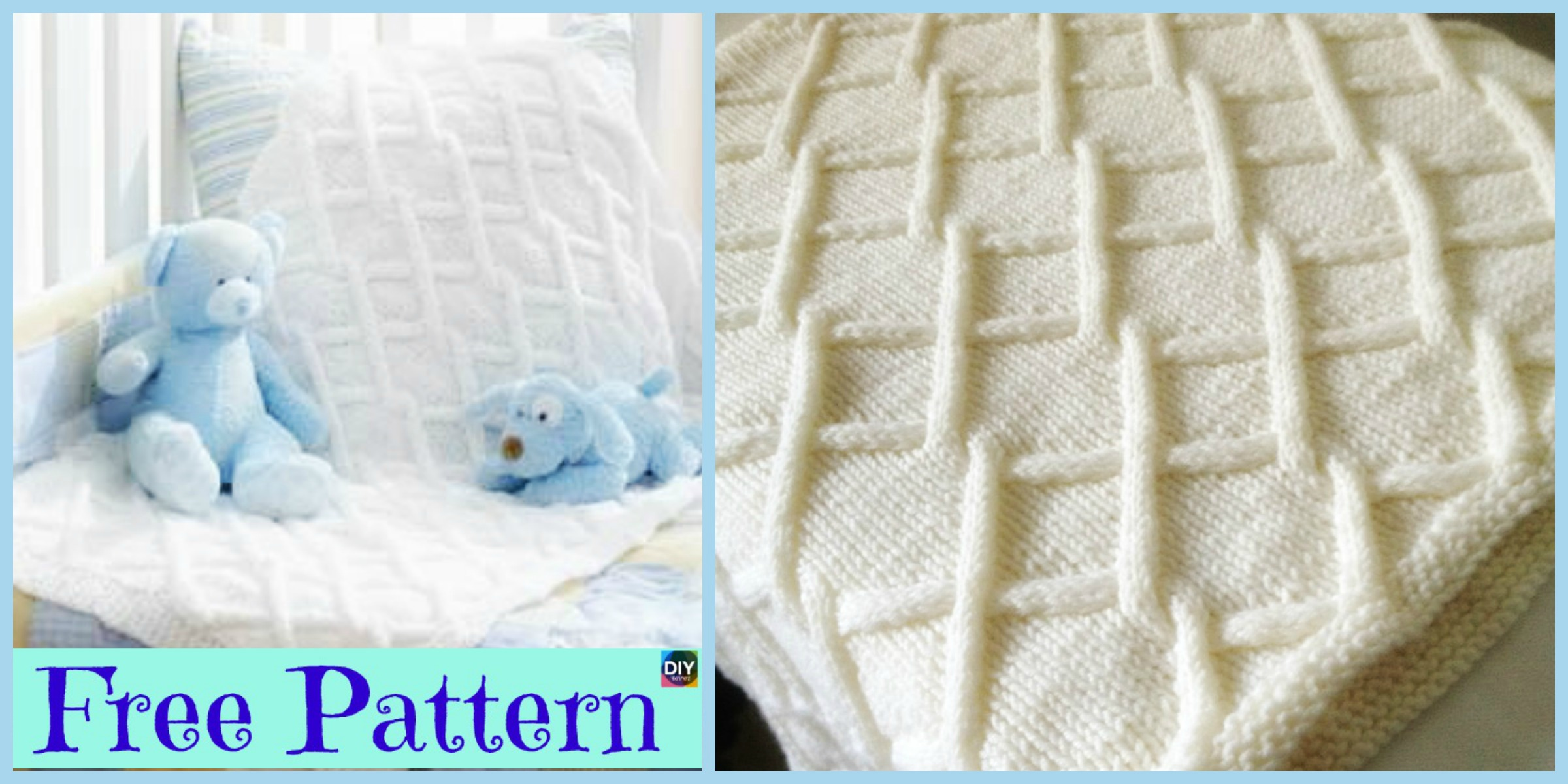 Pretty Knit Fence Baby Blanket – Free Pattern