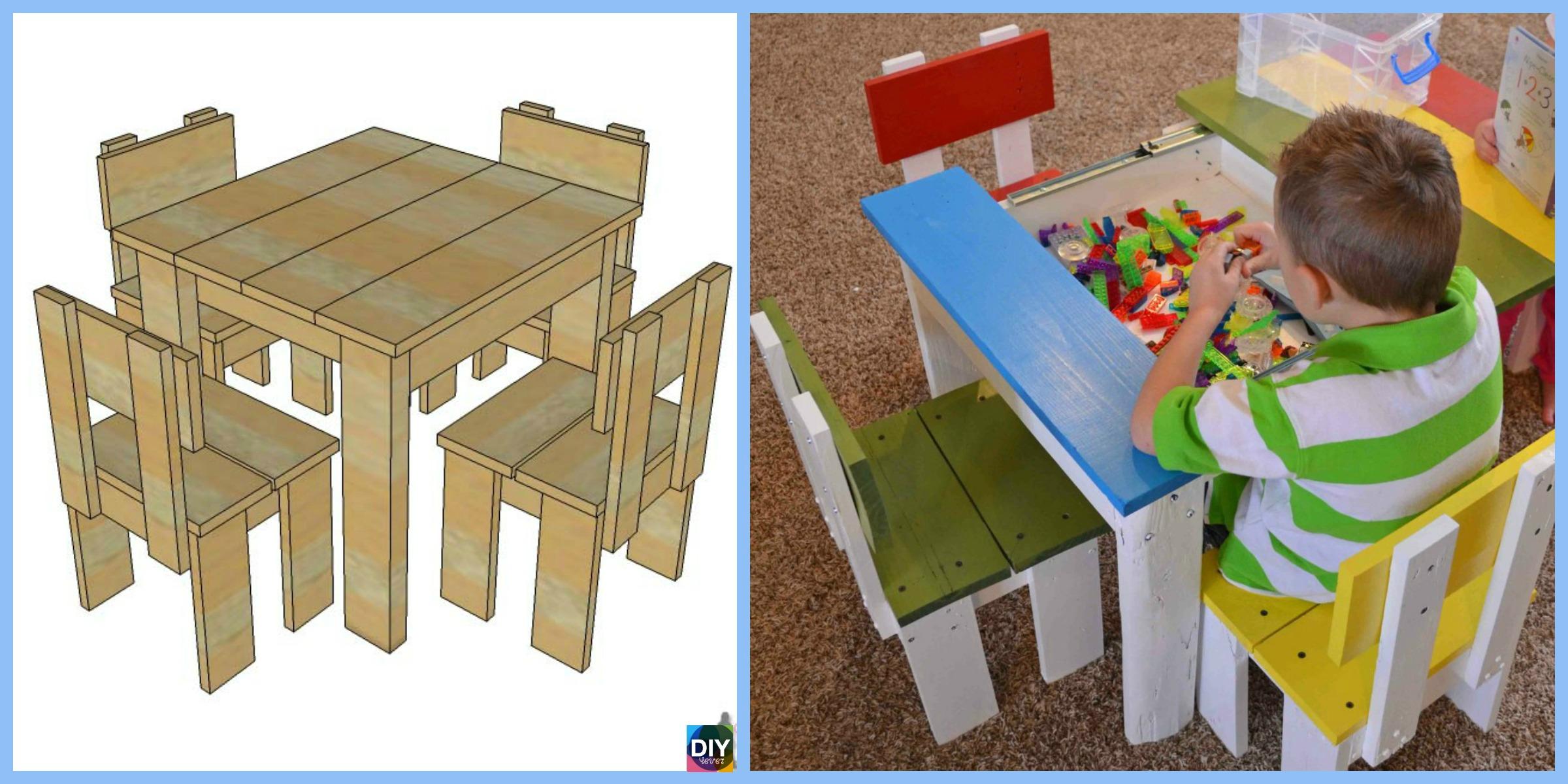Simple DIY Kids Table Chair Set Tutorial