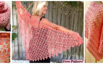 diy4ever- Victoria Crochet Lacy Shawl - Free Patterns