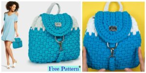 diy4ever- Elegant Crochet Nora Backpack - Free Pattern