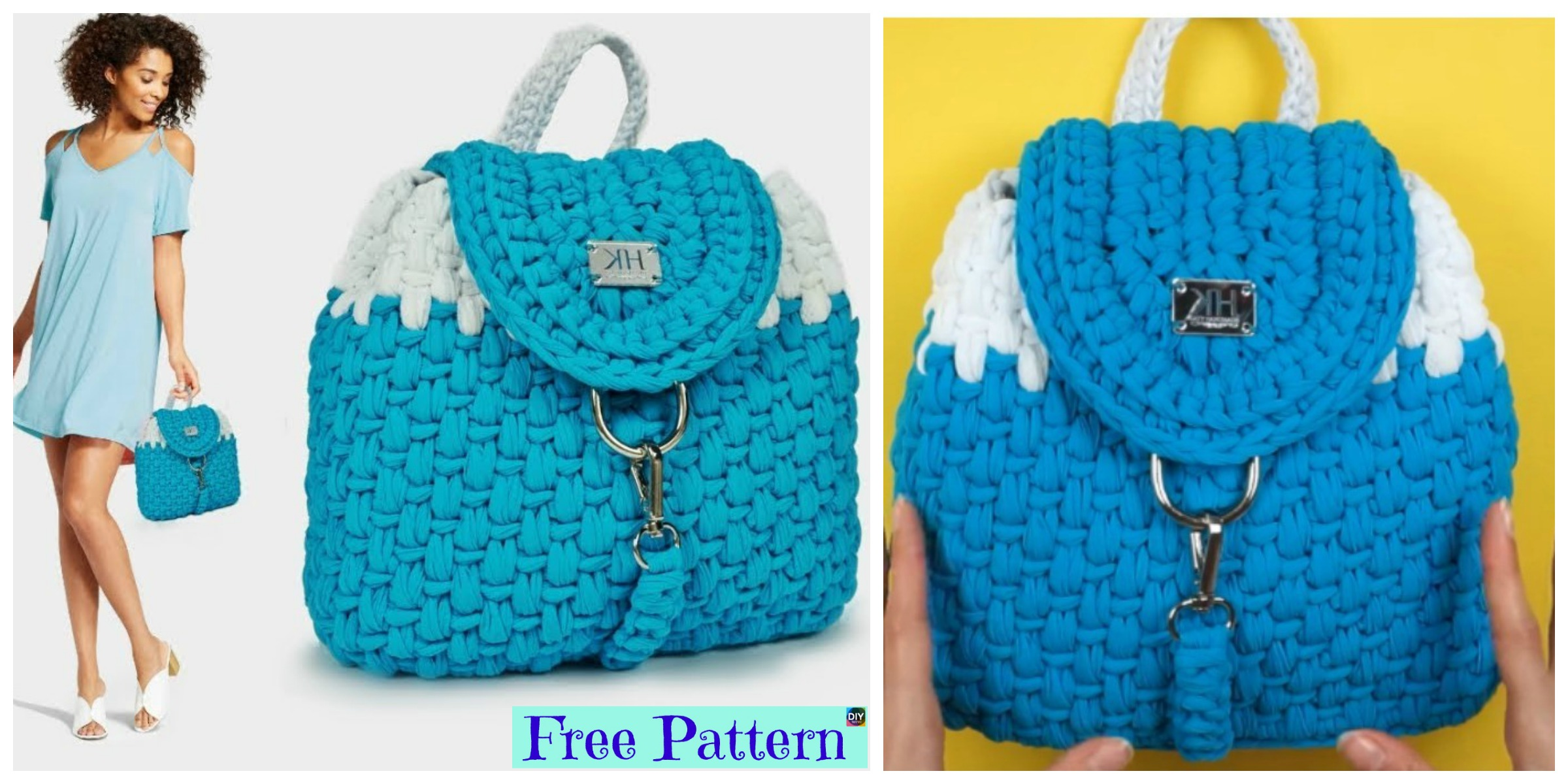 Elegant Crochet Nora Backpack – Free Pattern