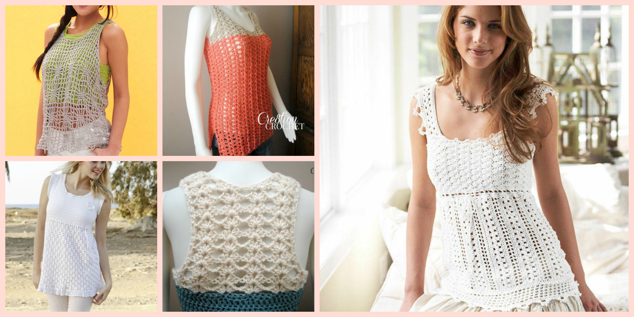 10 Beautiful Crochet Summer Tank Free Patterns