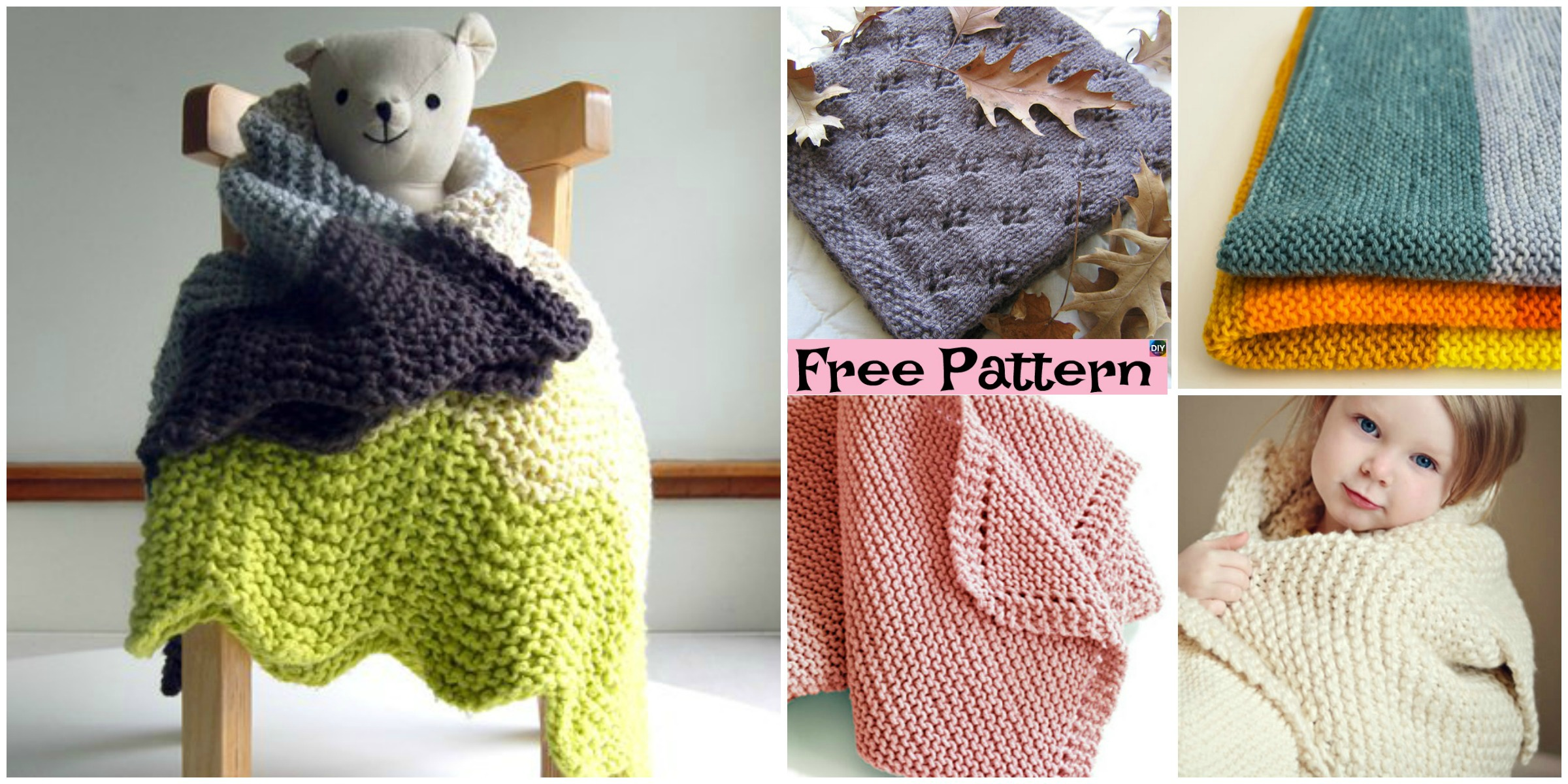 10 Easiest Knit Baby Blanket Free Patterns