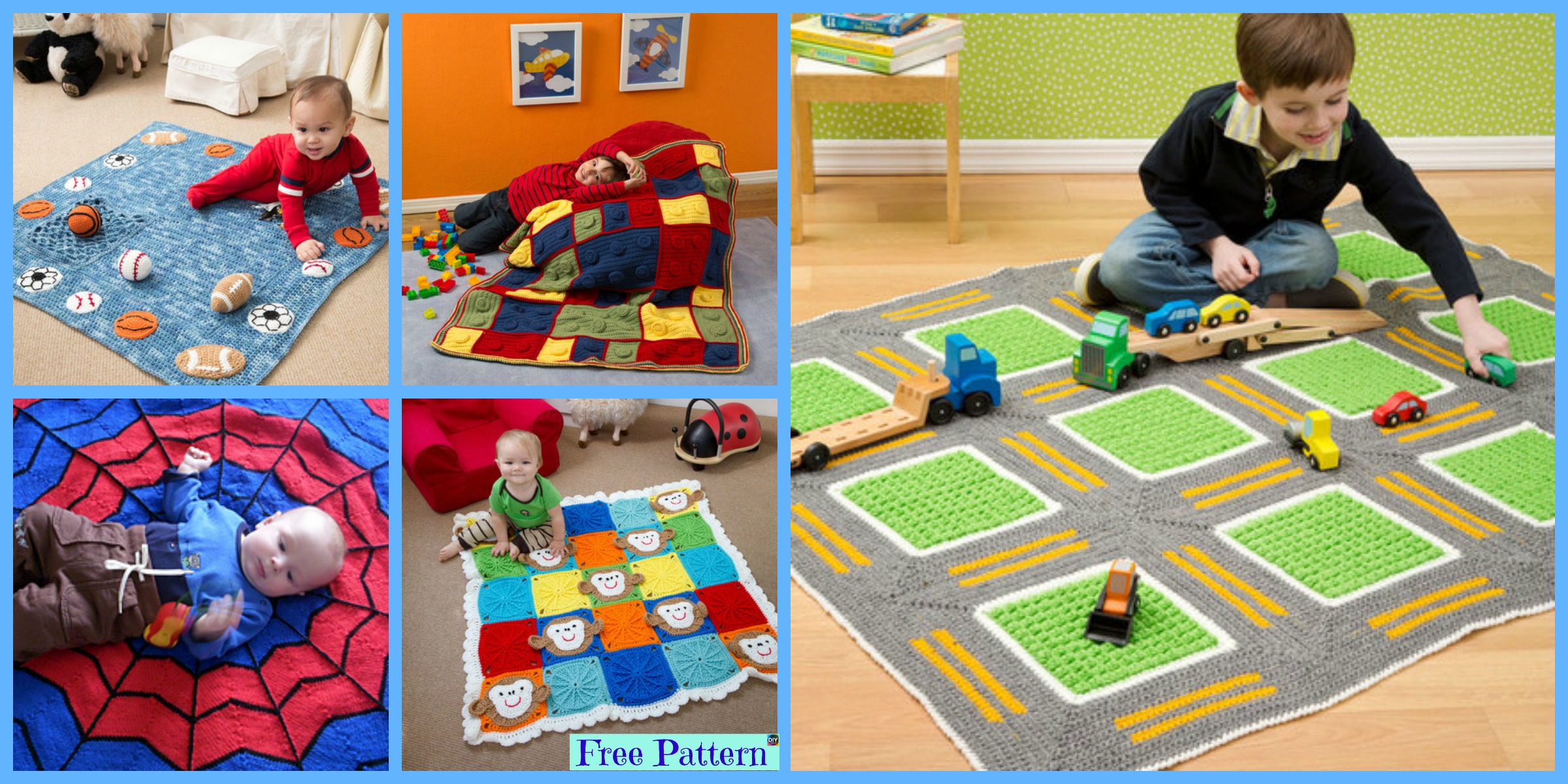 10 Most Adorable Crochet Kids Blanket – Free Patterns