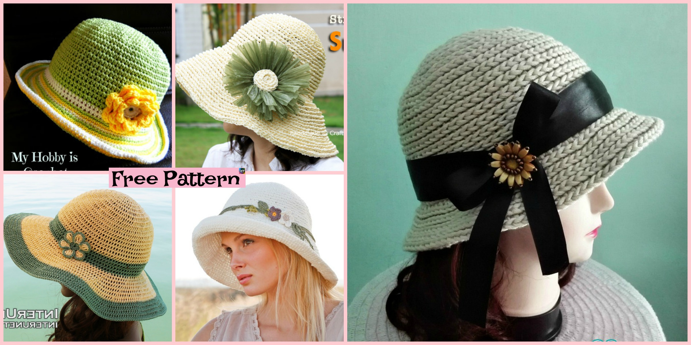 15 Amazing Crocheted Sun Hat Free Patterns