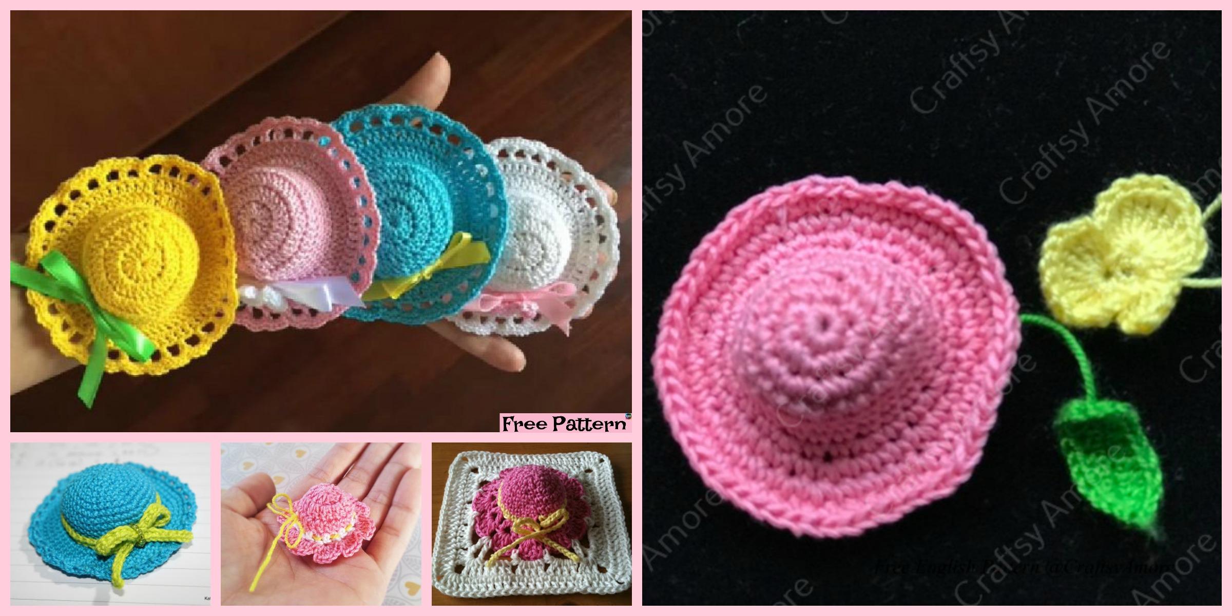 6  Cutest Crochet Mini Hat  Free  Patterns