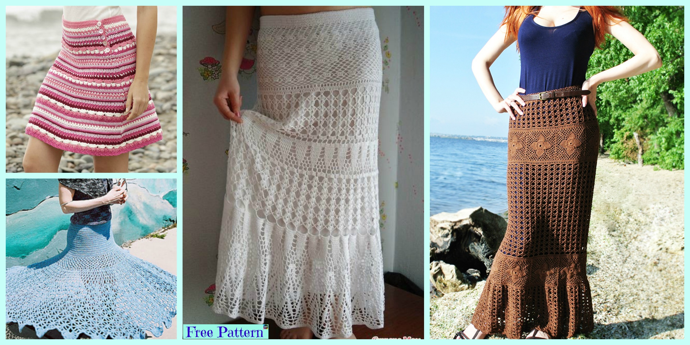 8 Beautiful Crochet Summer Skirt Free Patterns