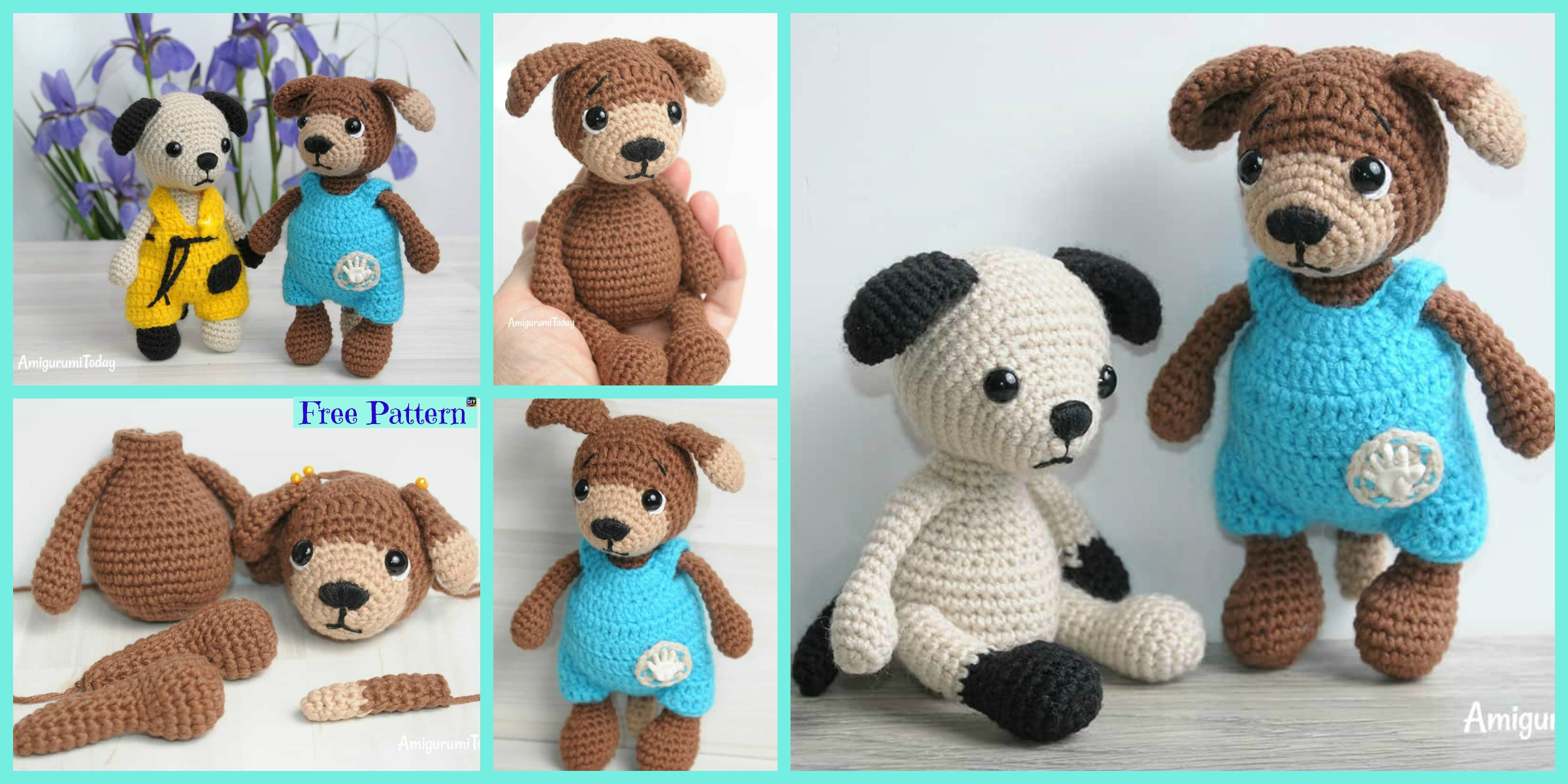 Dogs Patterns Archives - Free Amigurumi Pattern, Amigurumi Blog! | 1200x2400