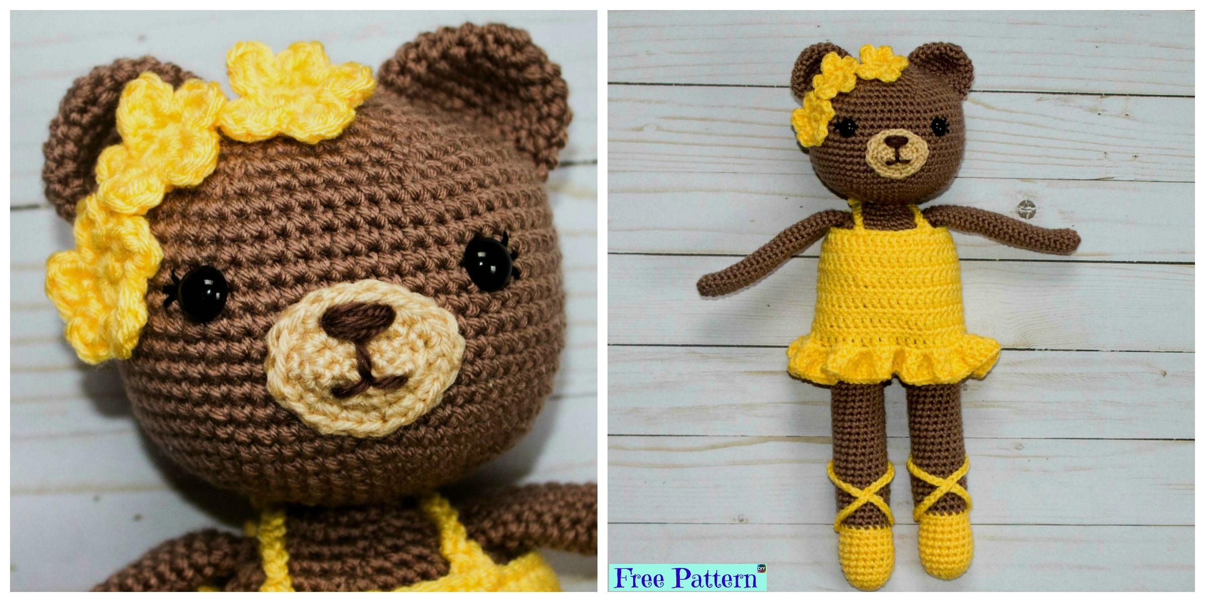 Adorable Crochet Bear Ballerina – Free Pattern