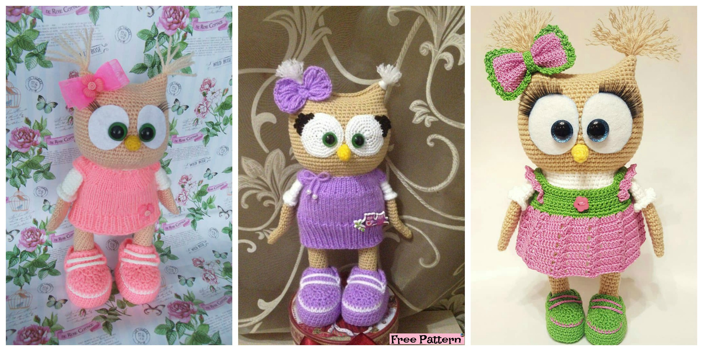 Adorable Crochet Dessed Owl – Free Pattern