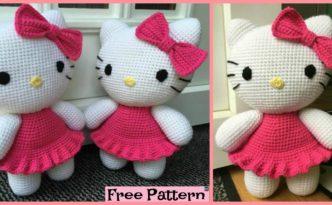 diy4ever- Adorable Crochet Hello Kitty - Free Pattern