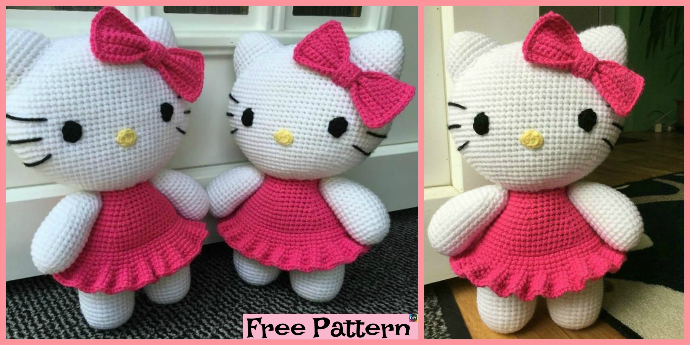 Adorable Crochet Hello Kitty – Free Pattern