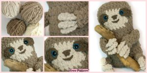 diy4ever-Adorable Crochet Spike Sloth - Free Pattern