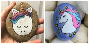 diy4ever- Adorable DIY Unicorn Rock Painting - Free Tutorial